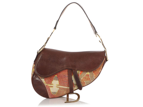 Dior Impression Kilim Tapestry Saddle Bag