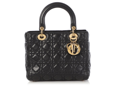 Dior Medium Black Lady Dior