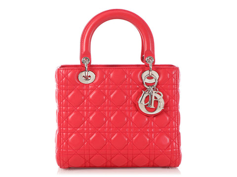 Dior Medium Red Lady Dior