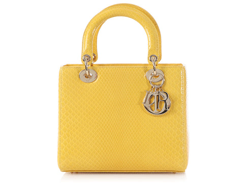 Dior Medium Tournesol Python Lady Dior