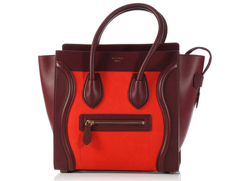 Céline Tricolor Vermillion Micro Luggage