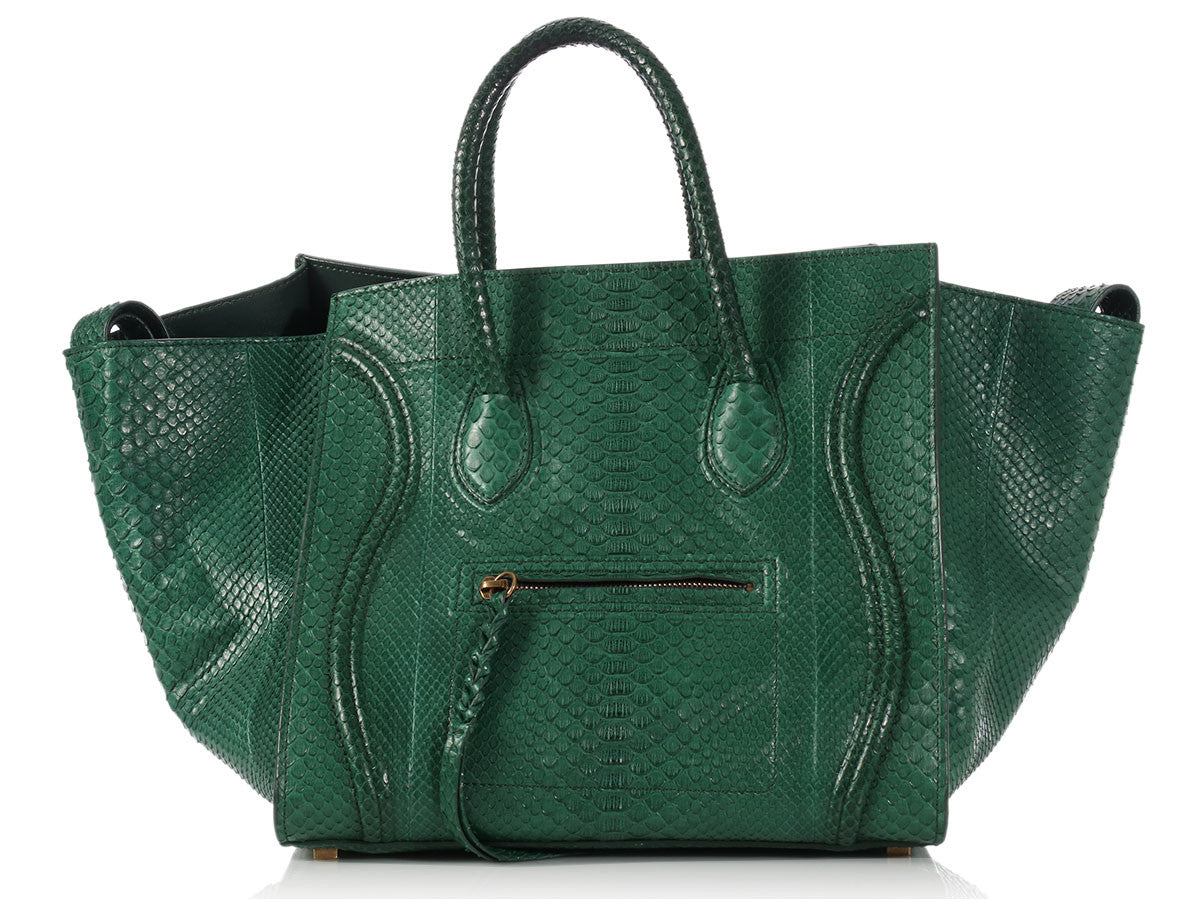 Céline Medium Emerald Python Phantom