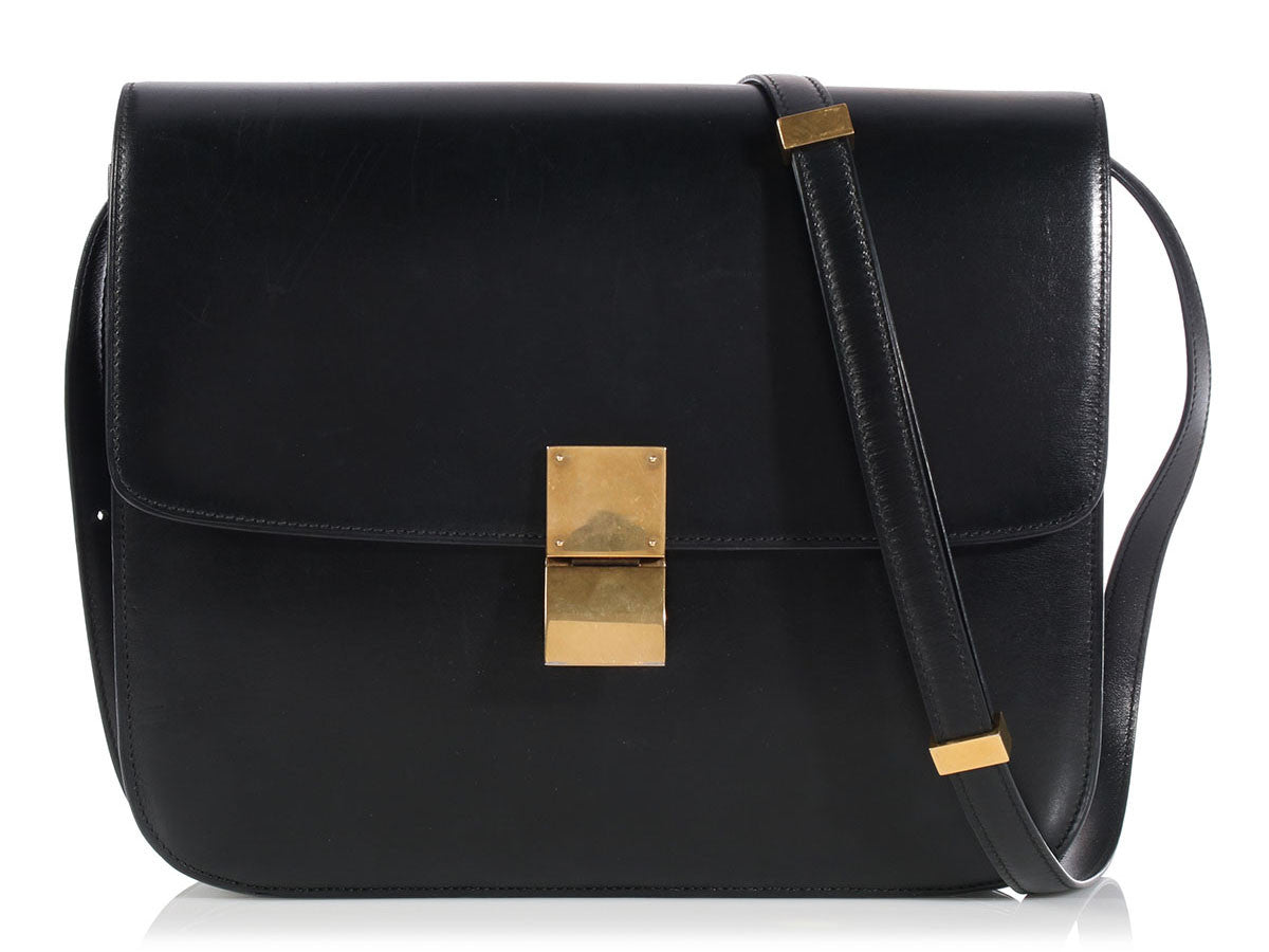 Céline Large Black Classic Box Flap
