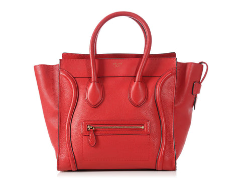 Céline Red Mini Luggage