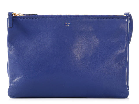 Céline Large Blue Trio Bag