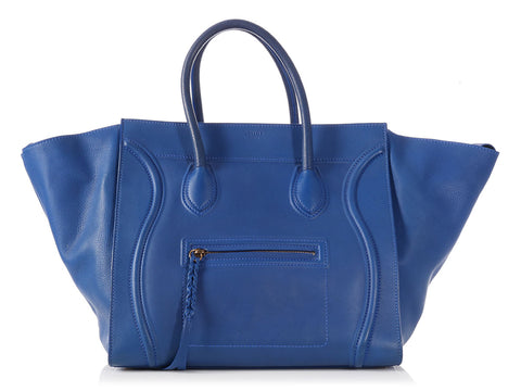 Céline Large Royal Blue Luggage Phantom