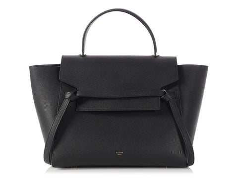 Céline Mini Black Grained Calfskin Belt Bag