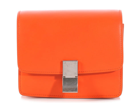 Céline Small Orange Classic Box Bag