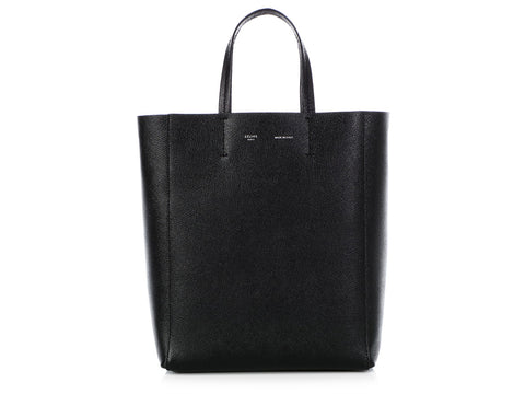 Céline Small Black Vertical Cabas Tote