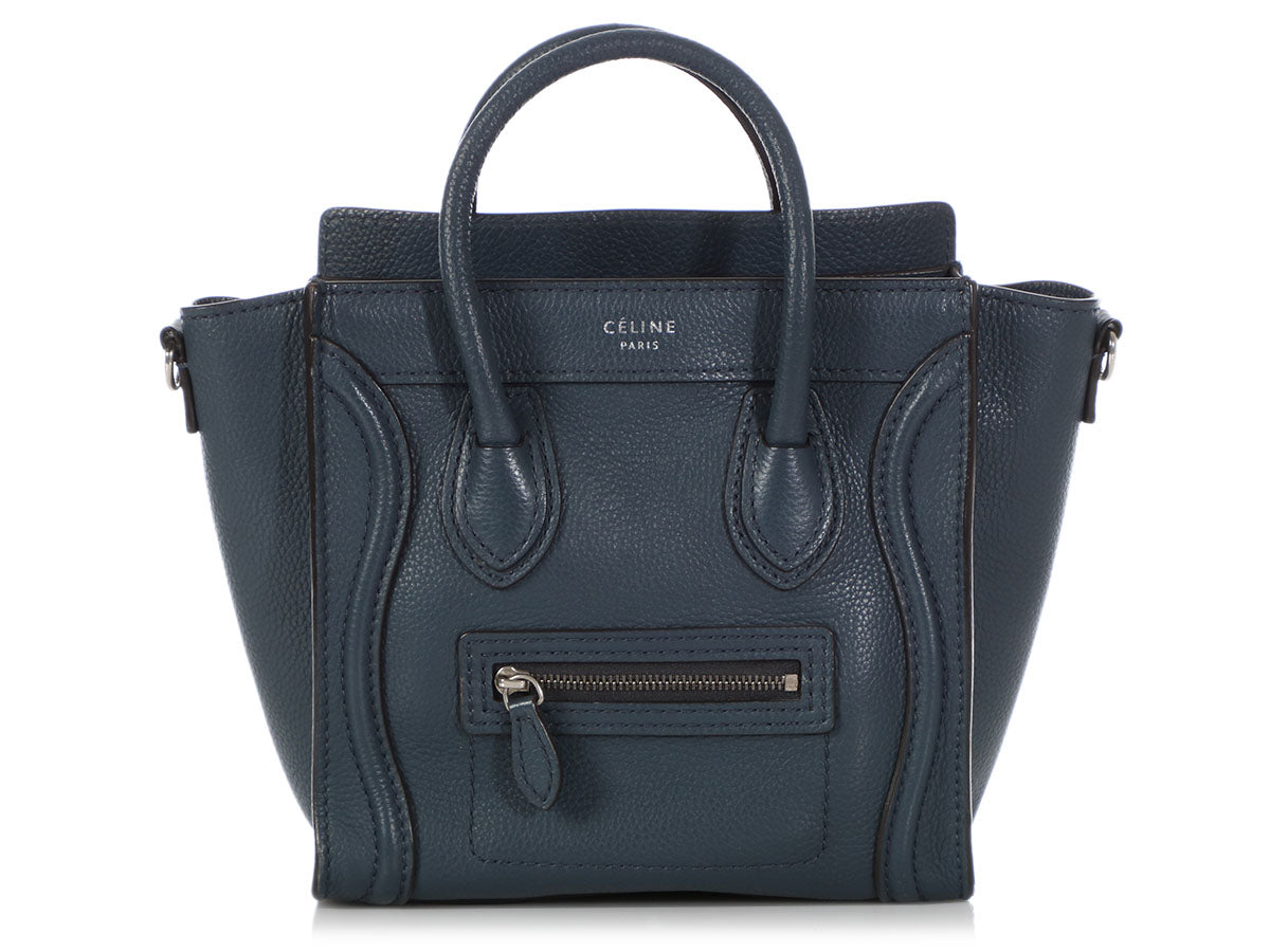 Céline Blue Indigo Grained Nano Luggage