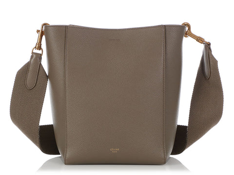 Céline Small Taupe Sangle Bucket Bag