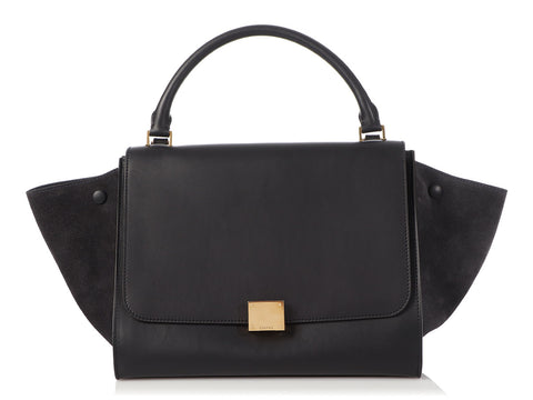 Céline Medium Dark Blue Trapeze