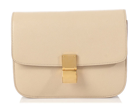 Céline Medium Dune Goatskin Classic Box Bag