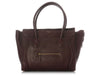 Céline Burgundy Mini Luggage Shopper