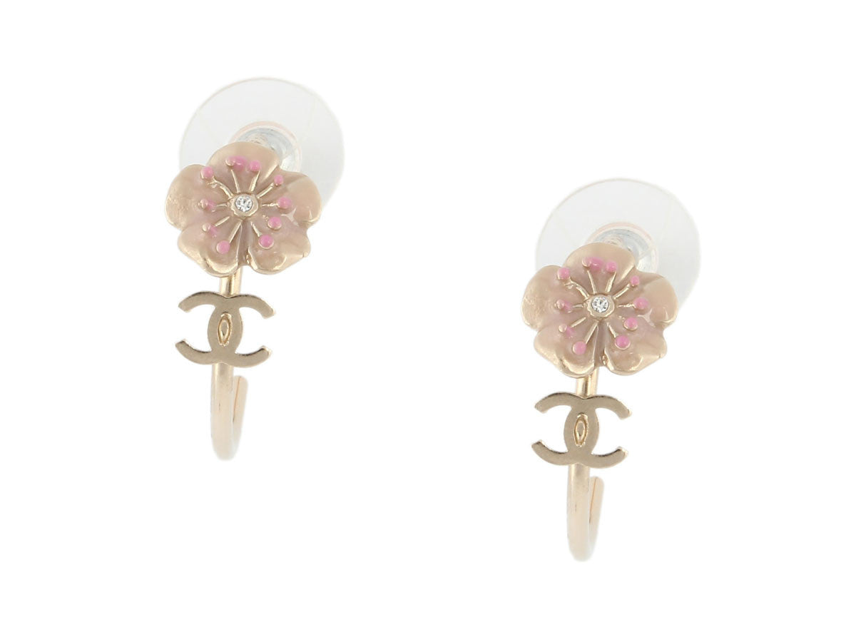 Chanel Small Flower Hoops