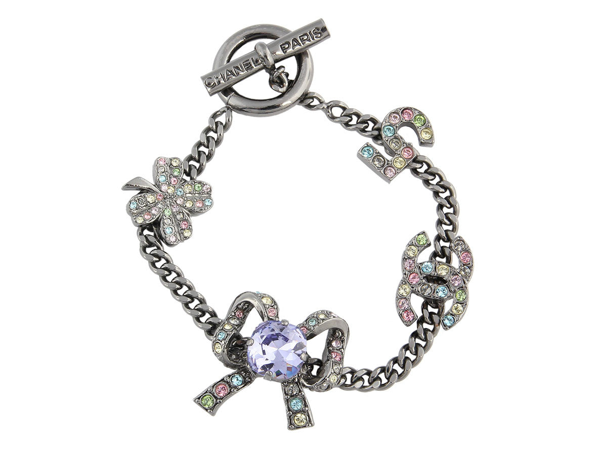 Chanel Multicolored Crystal Bracelet