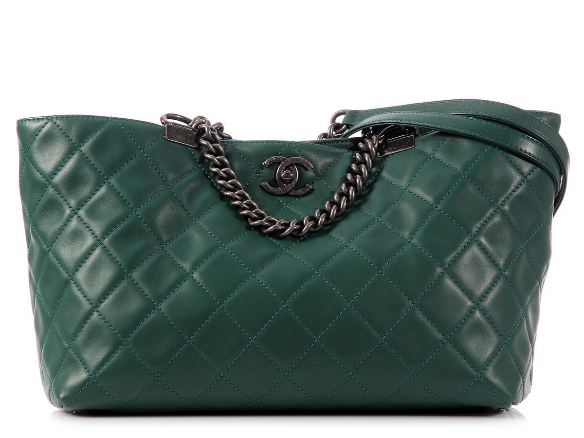 Chanel Teal Tote
