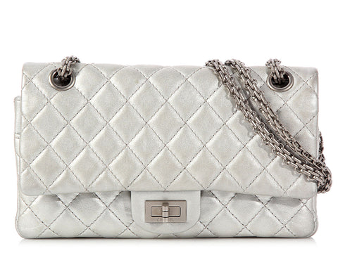 Chanel Silver Metallic Reissue 225