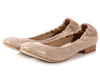 Chanel Dark Beige Toile and Snakeskin Cap Toe Flats