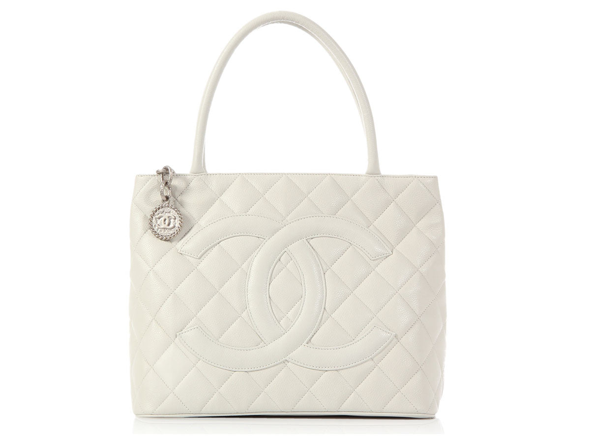 Chanel Off-White Medallion Tote