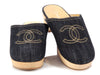 Chanel Denim Clogs