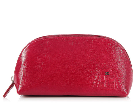 Chanel Red Jacket Cosmetic Case