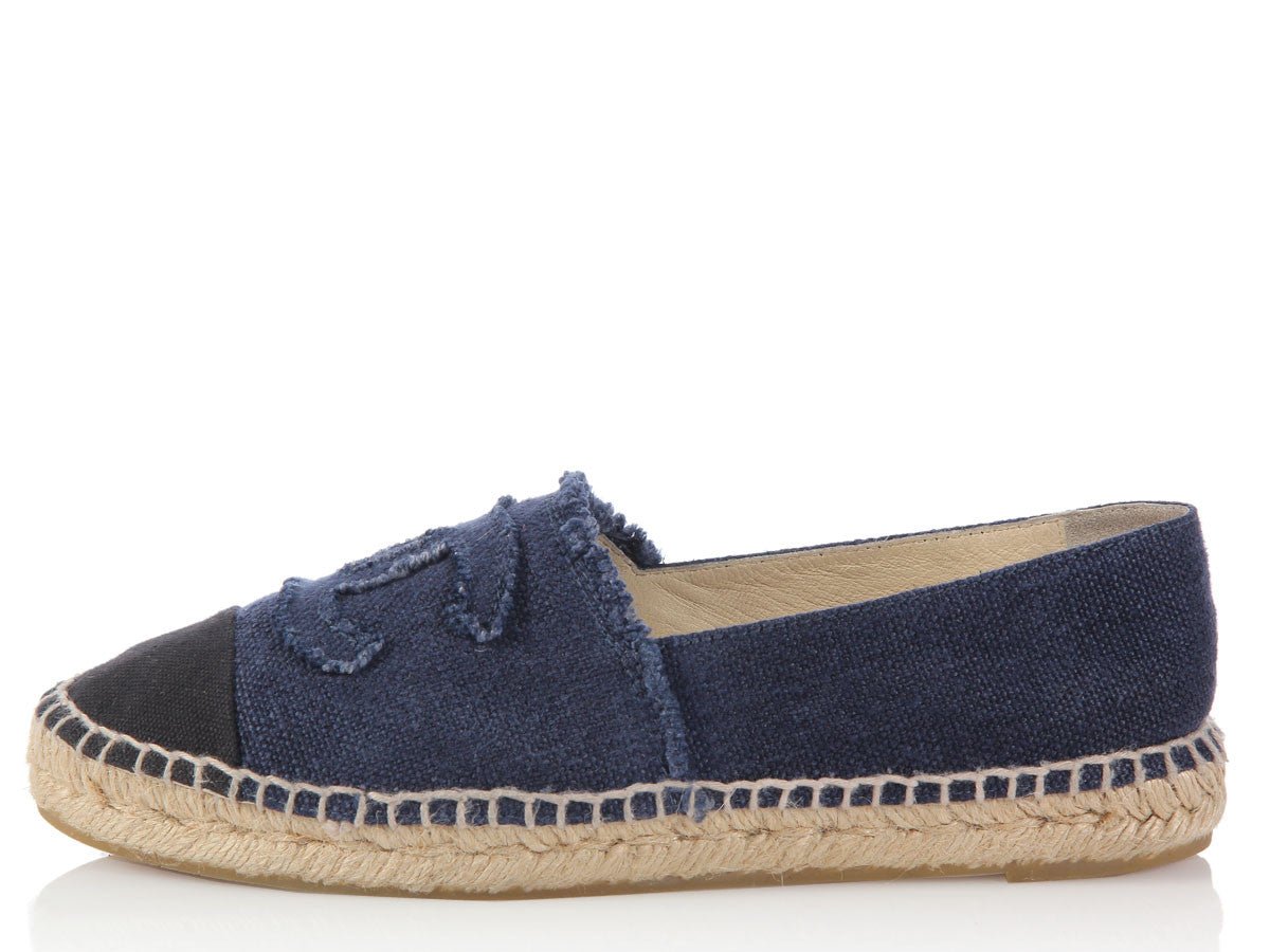 Chanel Blue Denim Espadrilles