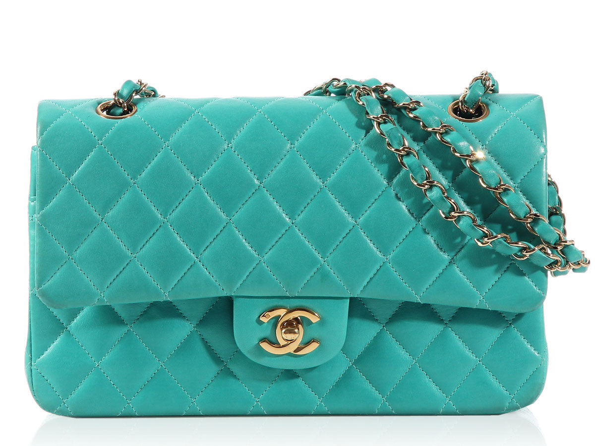 Chanel Turquoise Medium/Large Classic Double Flap