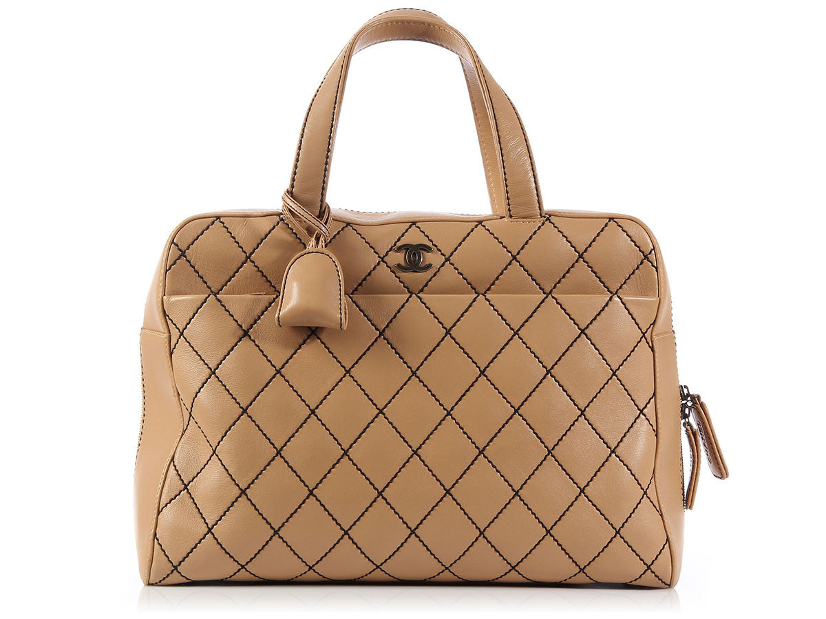 Chanel Large Tan Travel Bag