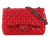 Chanel Red Jumbo Classic Double Flap