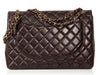 Chanel Brown Maxi Classic Single Flap