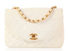 Chanel White Leather Flap