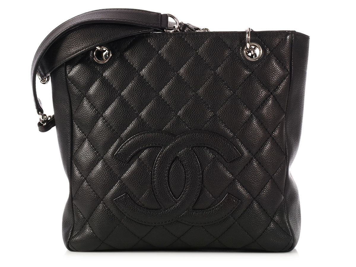 Chanel Black Petit Shopping Tote PST