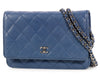 Chanel Blue Wallet on a Chain WOC