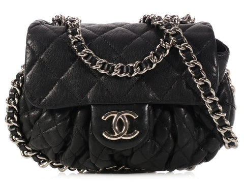 Chanel Black Chain Around Mini Bag