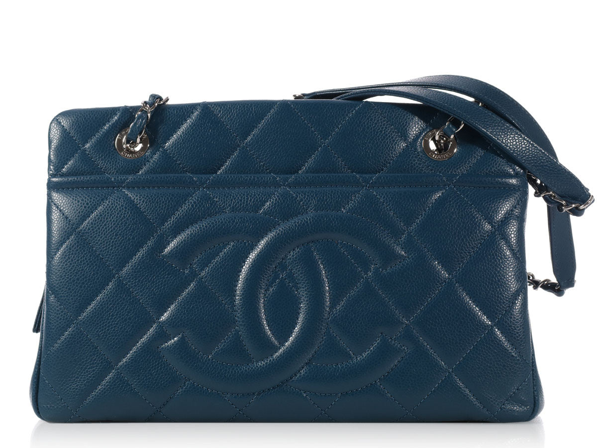 Chanel Blue Shopping Tote