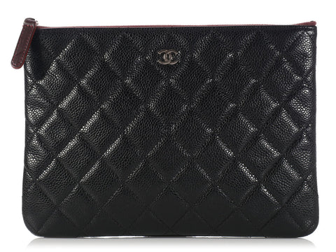 Chanel Medium Black Zip O Case