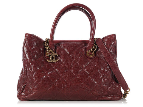 Chanel Burgundy Crave CC Tote