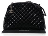 Chanel Large Black Patent Just Mademoiselle Bowler