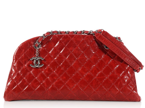 Chanel Red Just Mademoiselle Bowling Bag