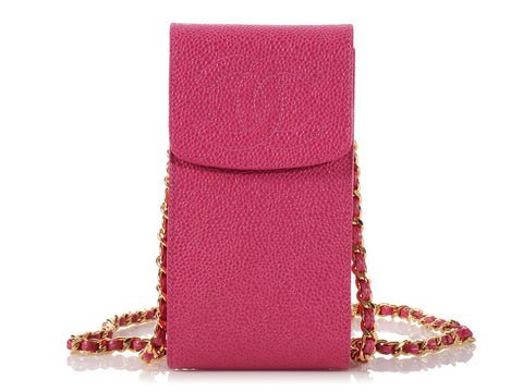 Chanel Fuchsia Crossbody Phone Case