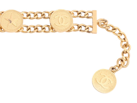 Chanel Long Golden Coin Belt