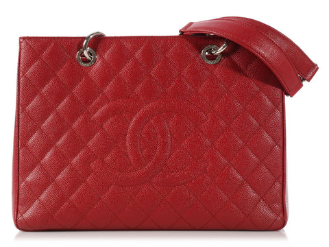 Chanel Red Grand Shopping Tote GST