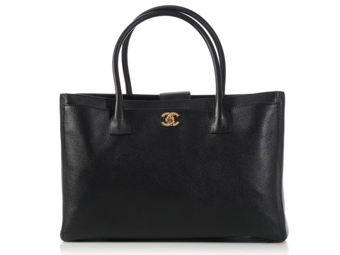 Chanel Black Cerf Tote