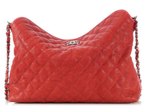 Chanel Red French Riviera Hobo
