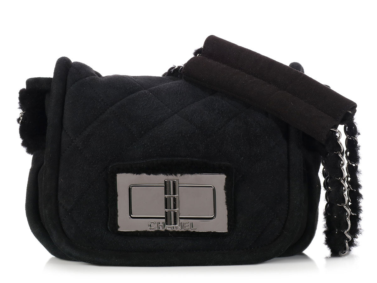 Chanel Small Black Shearling Bag