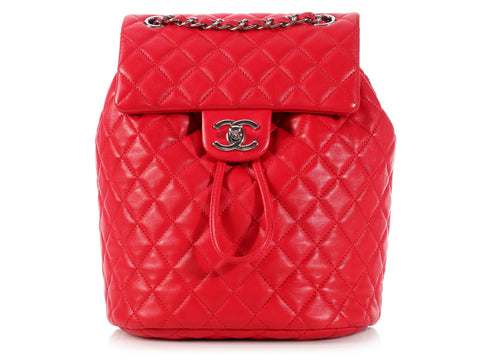 Chanel Red Urban Spirit Backpack