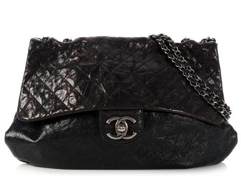 Chanel Black Elastic CC Flap