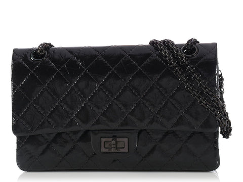 Chanel So Black Medium/Large Reissue Double Flap