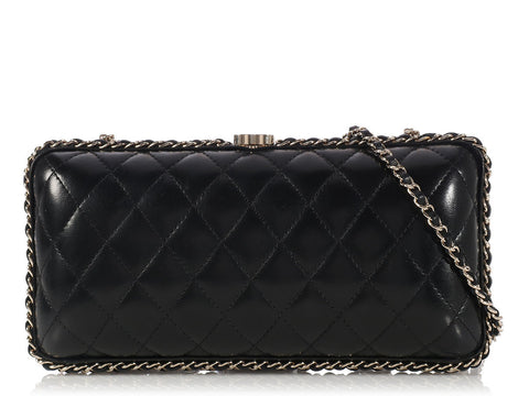 Chanel Black Chain Around Clutch